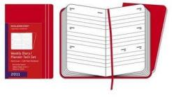 Moleskine 12 mesi -- Weekly Diary - Pocket - Copertina rigida rossa 2011 + Soft plain notebook