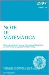 Note di matematica vol.17
