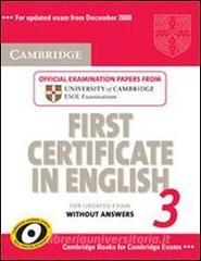 Cambridge first certificate in English for updated exam. Student's book. Per le Scuole superiori vol.3